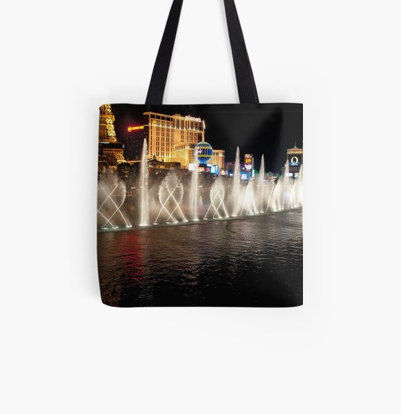 The Bellagio's Dancing Fountain All Over Print Tote Bag