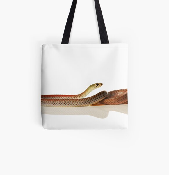 Yellow-faced Whip Snake (Demansia psammophis) All Over Print Tote Bag