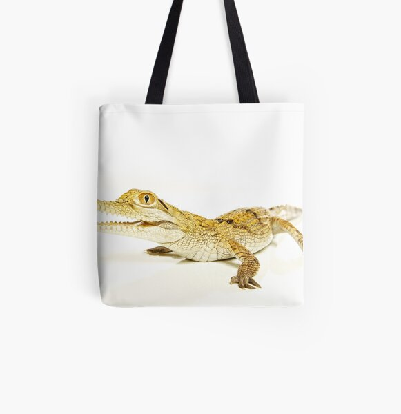 Freshwater Crocodile (Crocodylus johnstoni) All Over Print Tote Bag