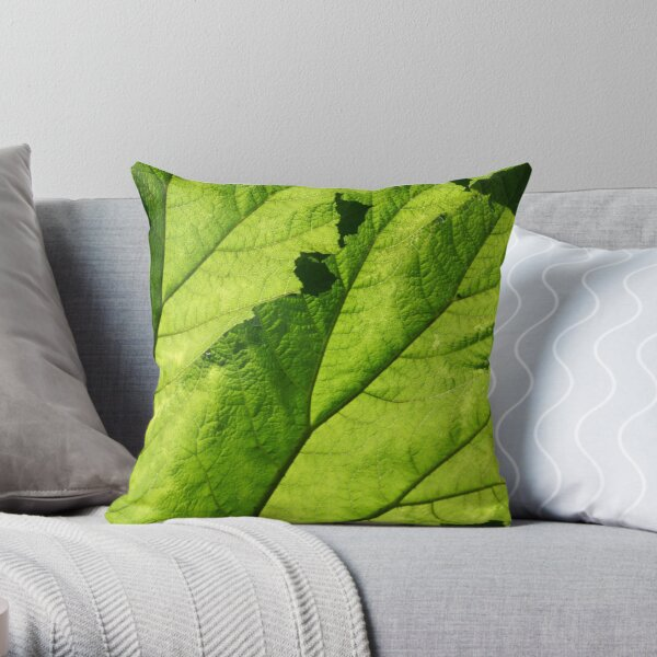 covered in green Throw Pillow