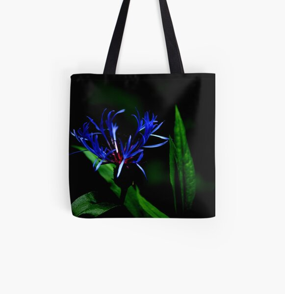 Black & Blue All Over Print Tote Bag