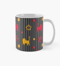 Cats in Stripes (Charcoal) Classic Mug