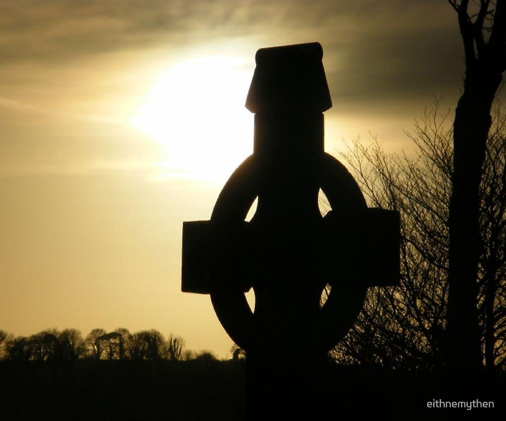 Celtic Cross at Sunset by eithnemythen