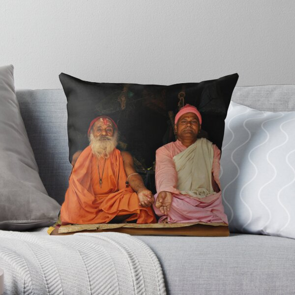 Hindu Priests Throw Pillow