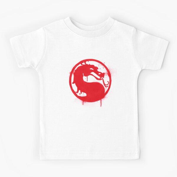 Mortal Kombat Splatter Grafitti Emblem   Mortal Kombat 11 Logo Kids T-Shirt
