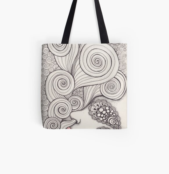 Inhale All Over Print Tote Bag