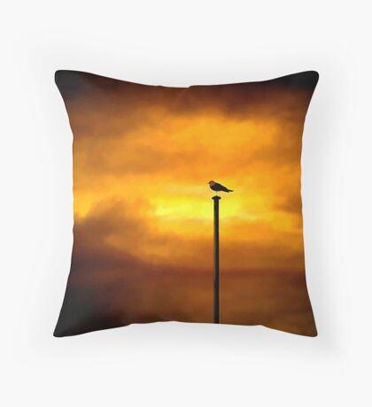 Storm Bird Throw Pillow