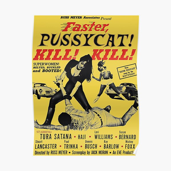 Faster Pussycat Kill Kill 1966 Cult Movie without background, Poster Artwork, Vintage Posters, Tshirts, Prints, Bags, Men, Women Poster