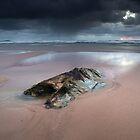 Regen (Watergate Bay, Cornwall) von Andrew Hocking