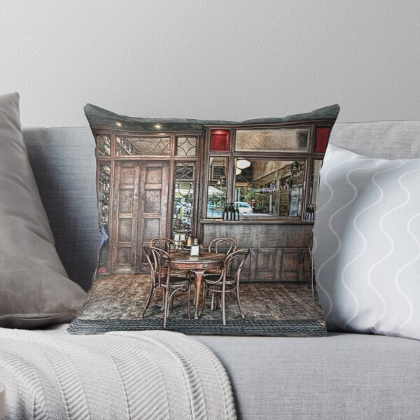 The City Wine Shop Throw Pillow
