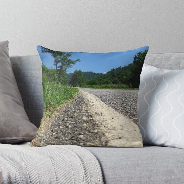 Country Road - North Carolina Throw Pillow