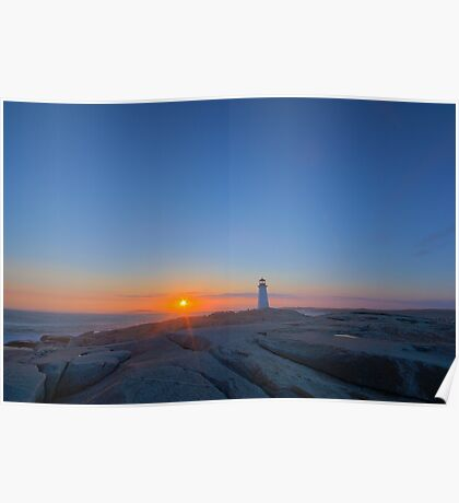 Peggy's Cove Light - Before Sunset Poster