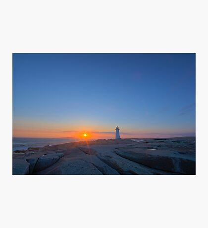 Peggy's Cove Light - Before Sunset Photographic Print
