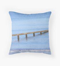 Sea defences.  Throw Pillow