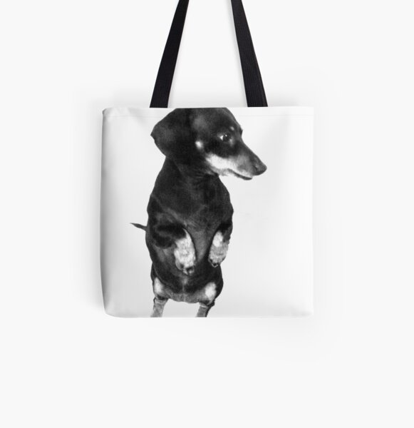 """""""Begging - But Distracted """" All Over Print Tote Bag"""