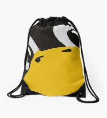 linux tux penguin eyes Drawstring Bag