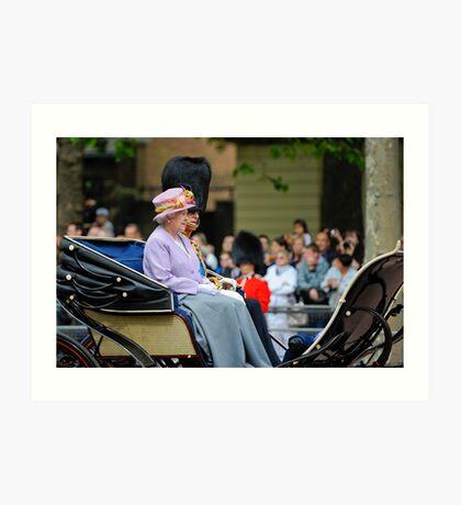 Queen Elizabeth: Queen of The United Kingdom.  Art Print