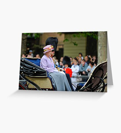 Queen Elizabeth: Queen of The United Kingdom.  Greeting Card