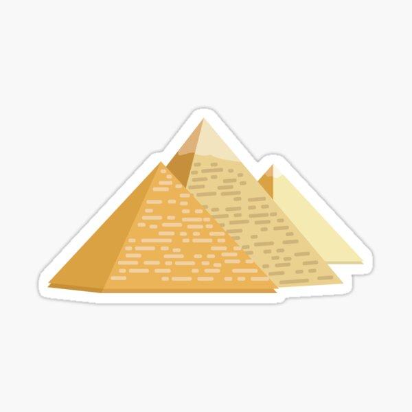 Three Pyramids Sticker