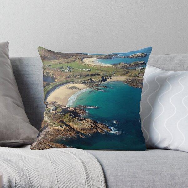 Corblet's Beach - Alderney Throw Pillow