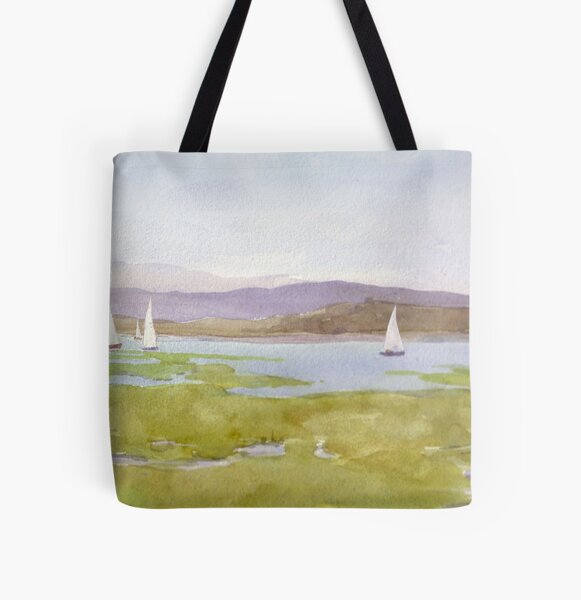 Racing down the Solent All Over Print Tote Bag