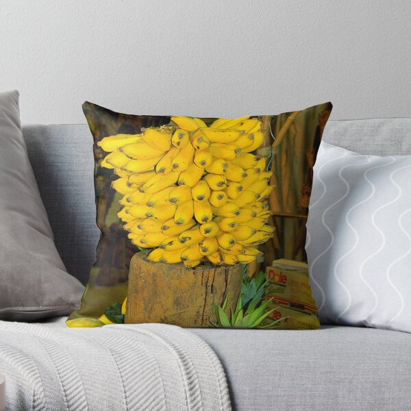 Yes we Do Have Bananas Throw Pillow