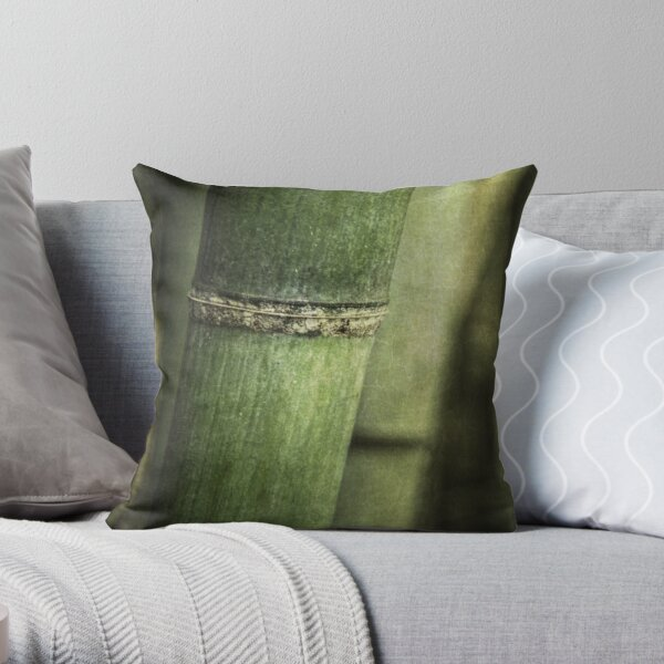 Mysteries of the Bamboo Forest Throw Pillow