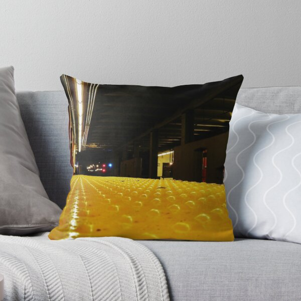 Subway Wait Throw Pillow