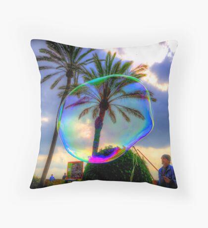 The Bubble Man of Santa Maria, Palma. Throw Pillow