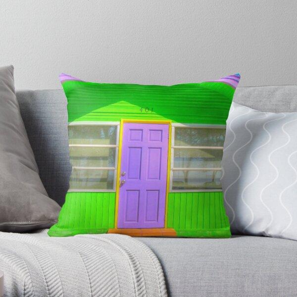 House, Bradenton Beach, 2011 Throw Pillow