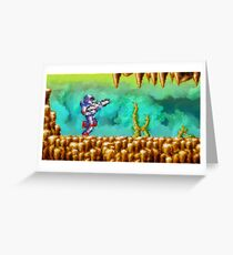 Turrican retro painted pixel art Greeting Card