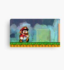 Super Mario retro painted pixel art Canvas Print