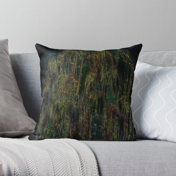 The beauty of the weeping willow Throw Pillow