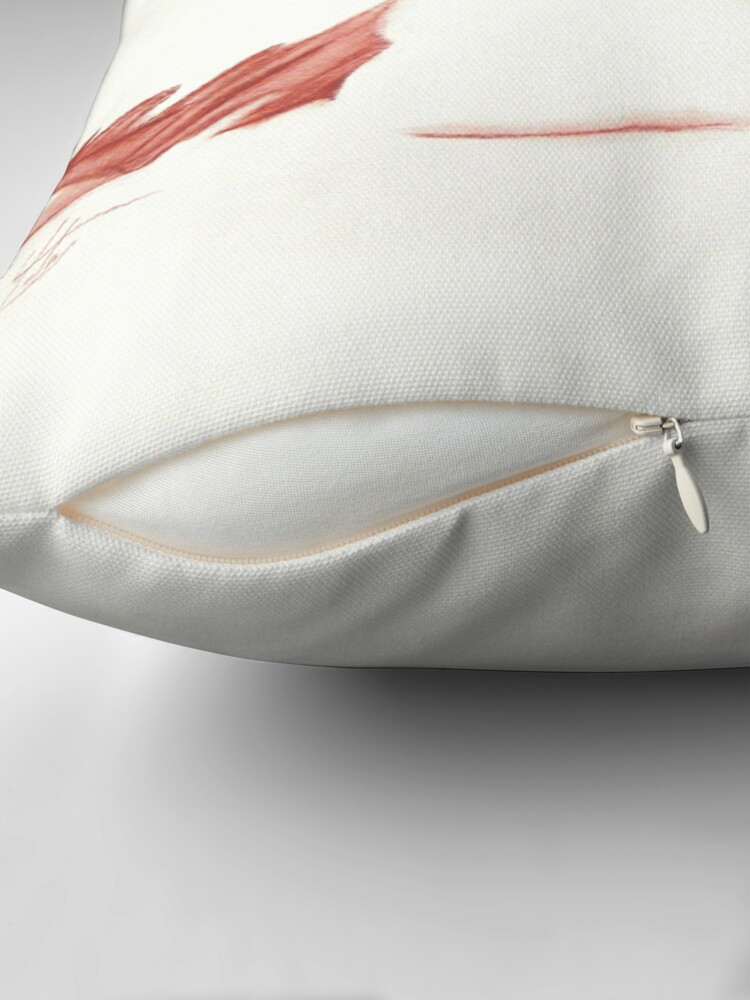 Alternate view of Euterpe Drawing Throw Pillow