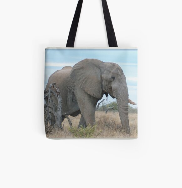 Eentand olifant All Over Print Tote Bag