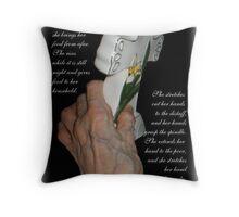 Hands of Wisdom  Throw Pillow