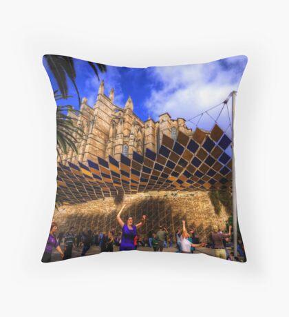 Spanish Street Dancers Throw Pillow