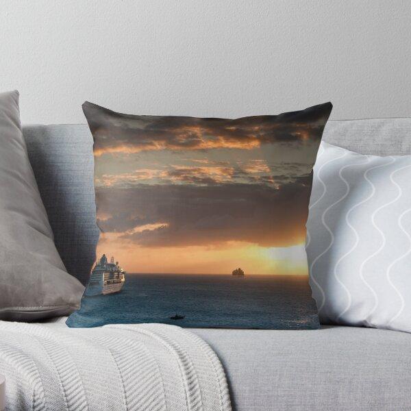 Sailing Into The Sunset 1 Throw Pillow