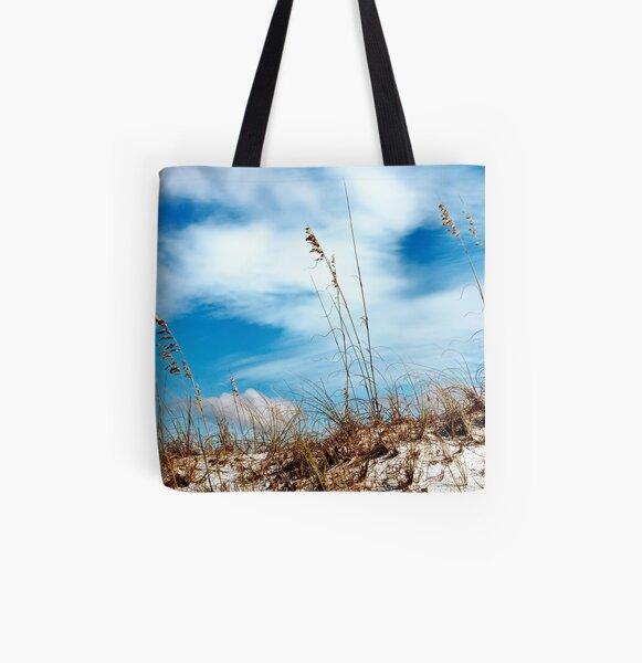 Sea Oats All Over Print Tote Bag