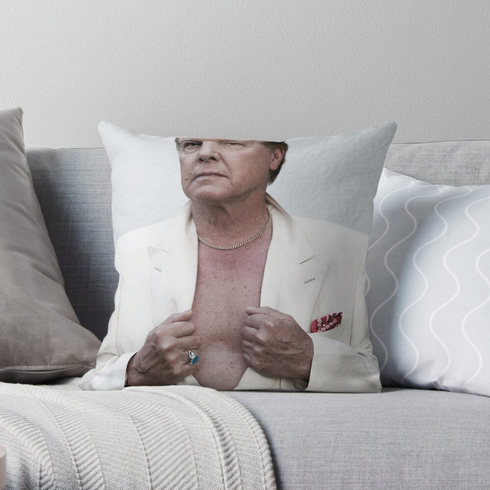 Jess Conrad - Actor, Singer, Showman. Throw Pillow