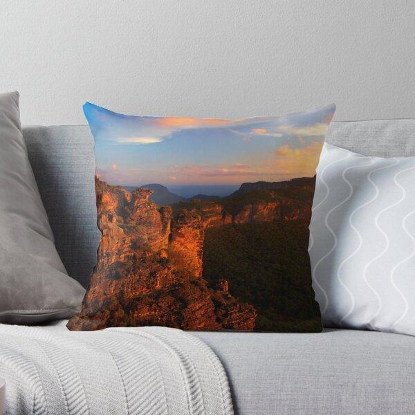 Boar's Head Rock, Katoomba, NSW. Throw Pillow