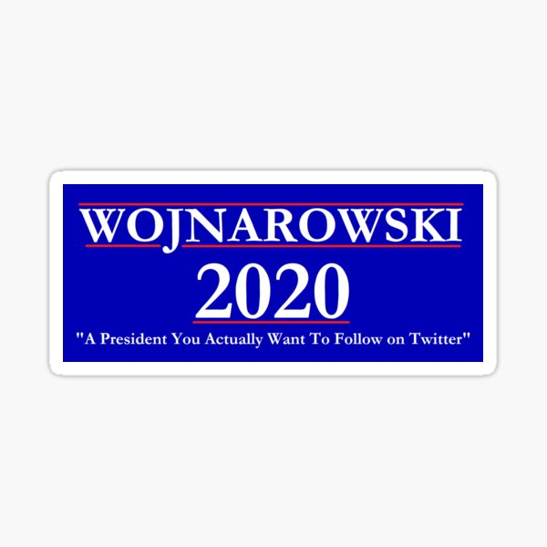 Adrian Wojnarowski 2020 NBA Campaign Sign Sticker