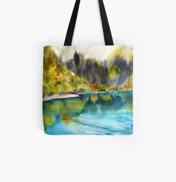 Crystal waters - Jiuziakou All Over Print Tote Bag