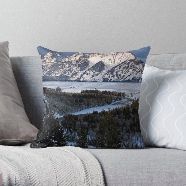 Snake River Overlook, Winter Throw Pillow