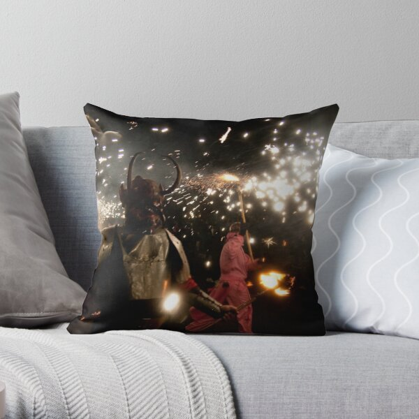 Here be monsters... Throw Pillow