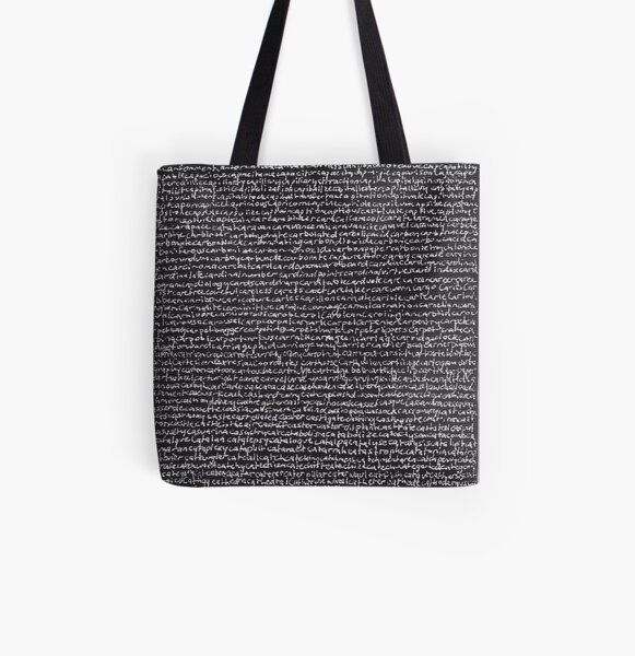 """""""Dictionary 10"""" (canon-cellar) All Over Print Tote Bag"""