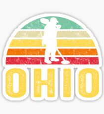 Ohio Treasure Finding Apparel Metal Detecting Gift Sticker
