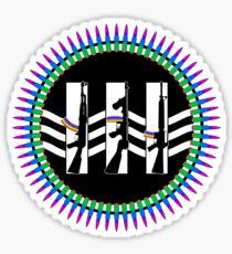 Jack White III Logo - Machine Gun Silhouette Edition Sticker