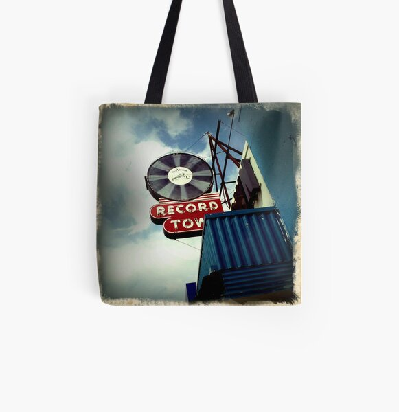 Record Town All Over Print Tote Bag