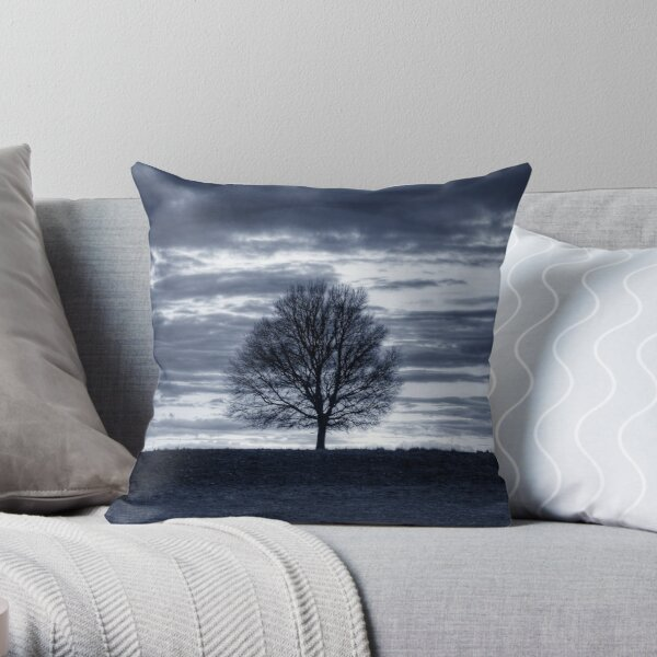 Tree of Solitude Throw Pillow